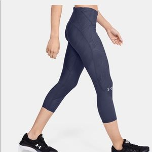 NWT-Under Armour Blue Compression Leggings